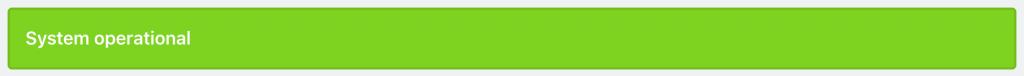 Cachet status page status bar